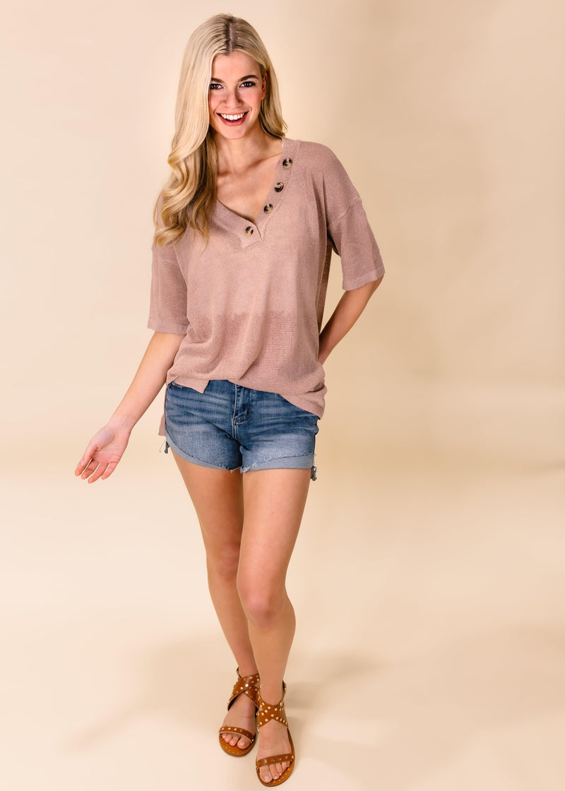 READY TO ROLL HALF BUTTON TOP | TWIG