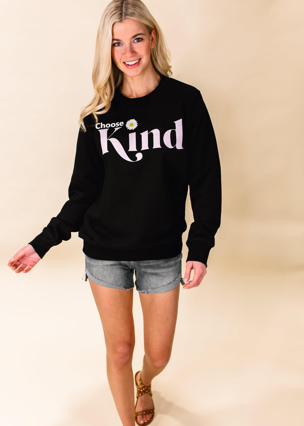 CHOOSE KIND GRAPHIC SWEATSHIRT | BLACK