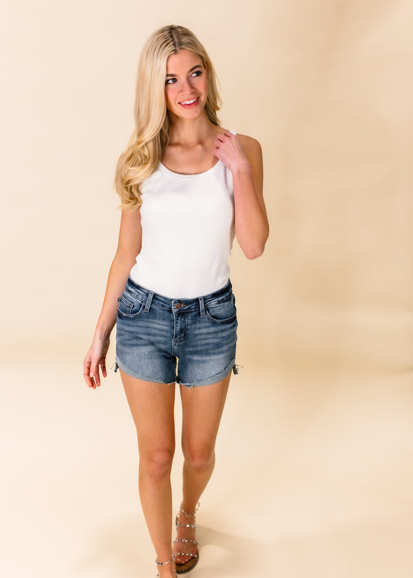 TYPICALLY BASIC RIBBED TANK TOP | IVORY