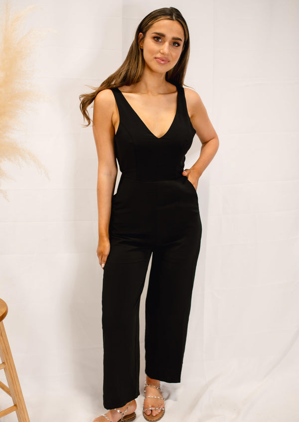 IT'S JUST BUSINESS JUMPSUIT | BLACK