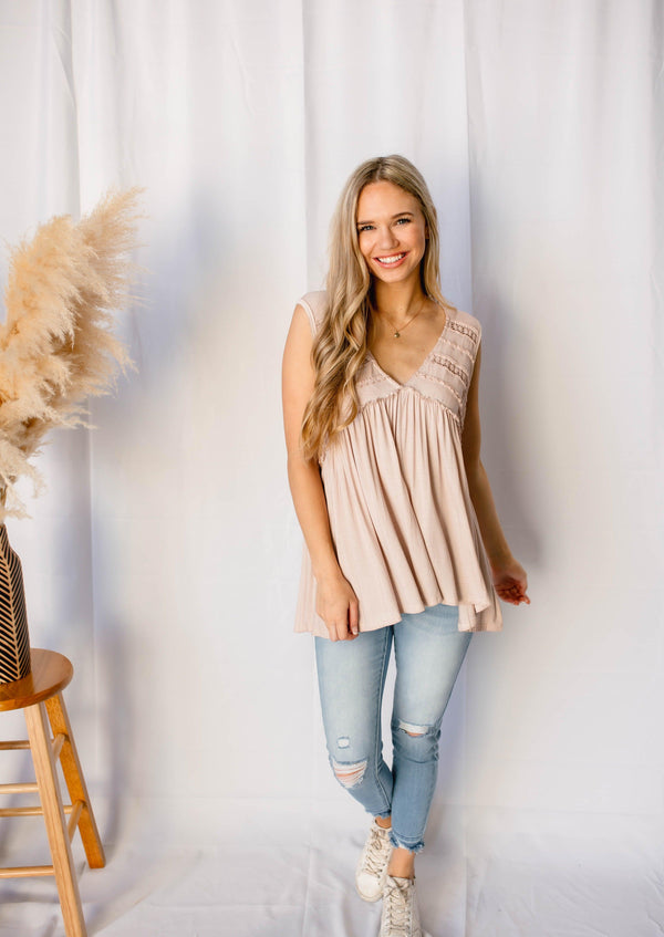 GO GETTER SLEEVELESS TANK | BLUSH