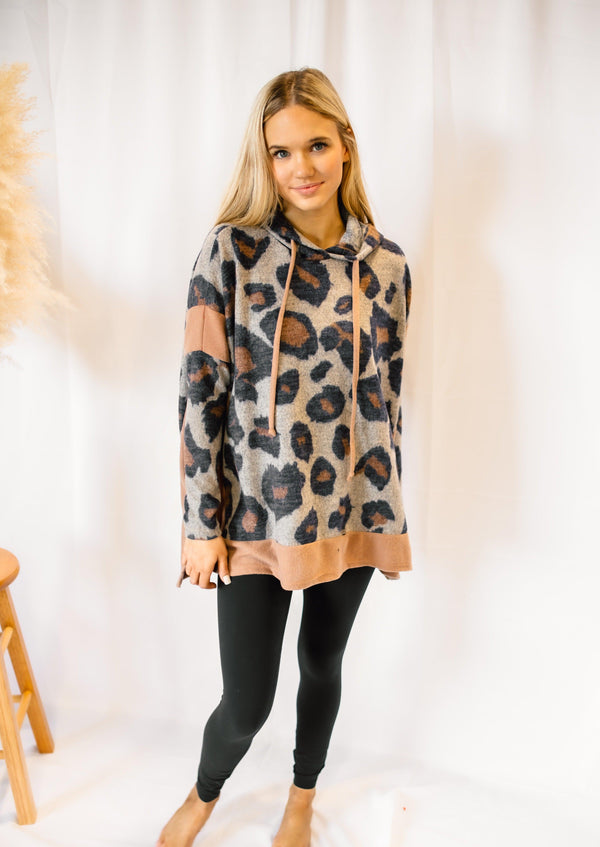 NEVER SHY LEOPARD HOODIE