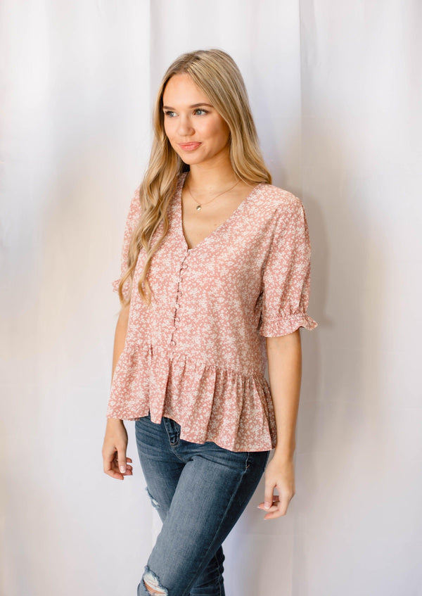 SUCH A FLIRT FLORAL BLOUSE | GINGER