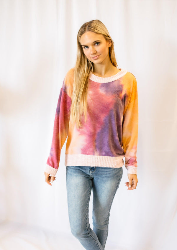 TELL ALL TIE DYE PULLOVER