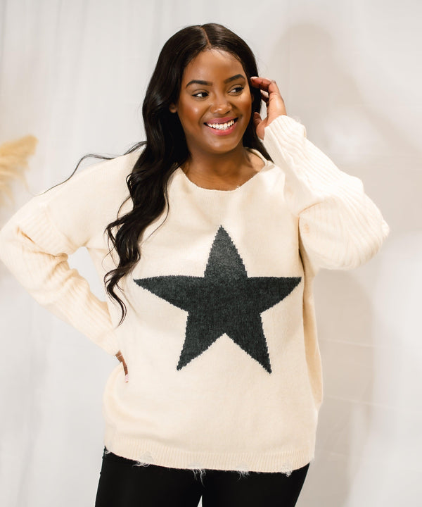 BORN A STAR KNITTED SWEATER