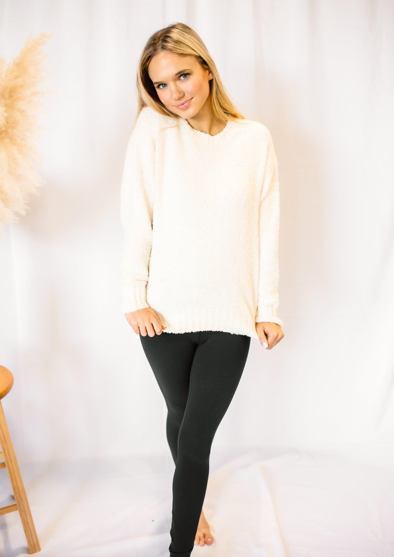 THE ONE THAT I WANT TEDDY BEAR SWEATER | CREAM