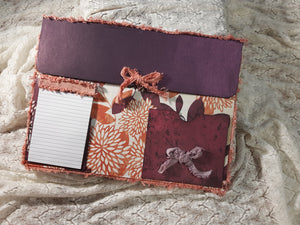 Decorated Wine and Orange File Folder Envelope