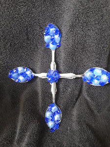 Beautiful Spoon Cross Embellished in Blue