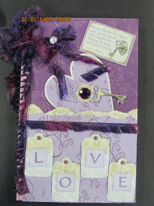 "Purple and Pink ""Love"" Spiral Journal"