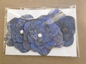 Hand-Cut Book Page Flowers--Shades of Blue