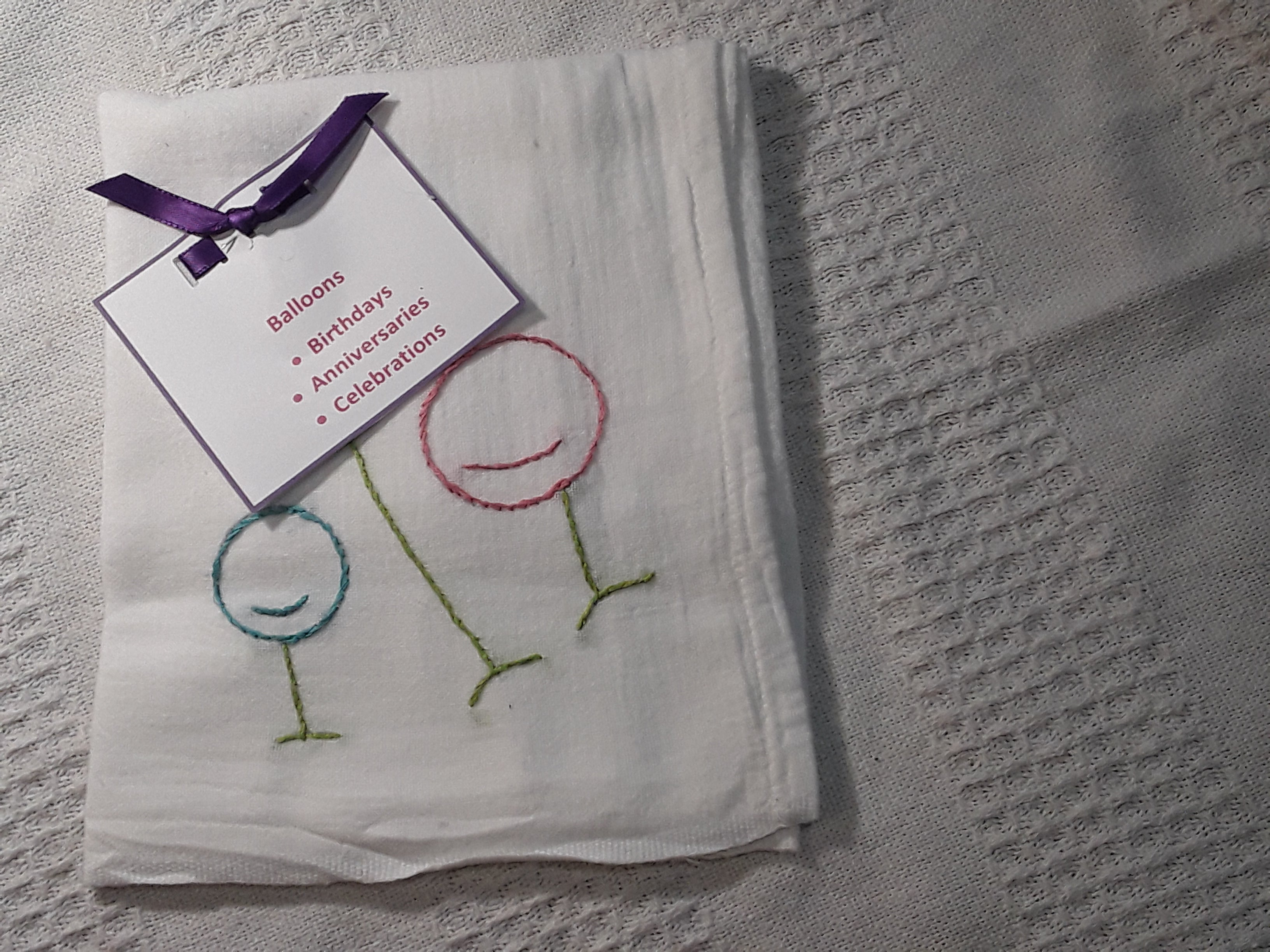 Hand Embroidered Tea Towels