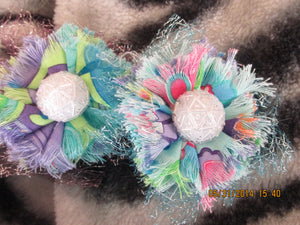 Handmade Fabric and Tulle Flowers--Multi Colors