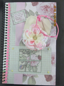 Pink Rose in My Pocket Spiral Journal
