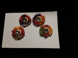 Cute Little Colorful Button Flowers
