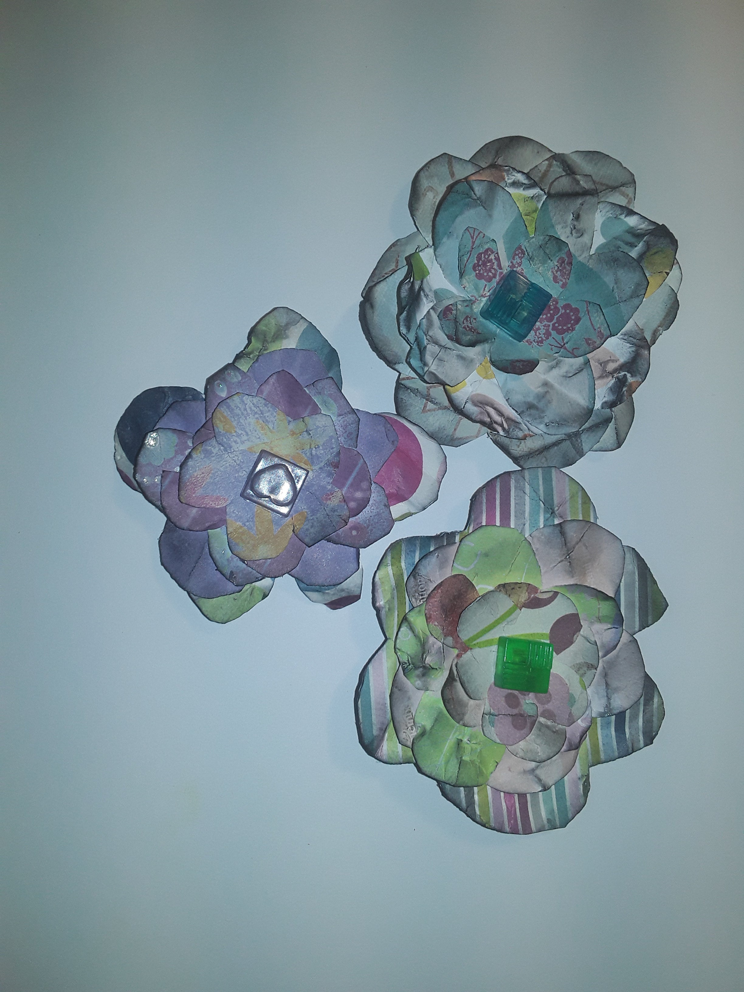 Hand-Cut Paper Flowers in Multi Colors