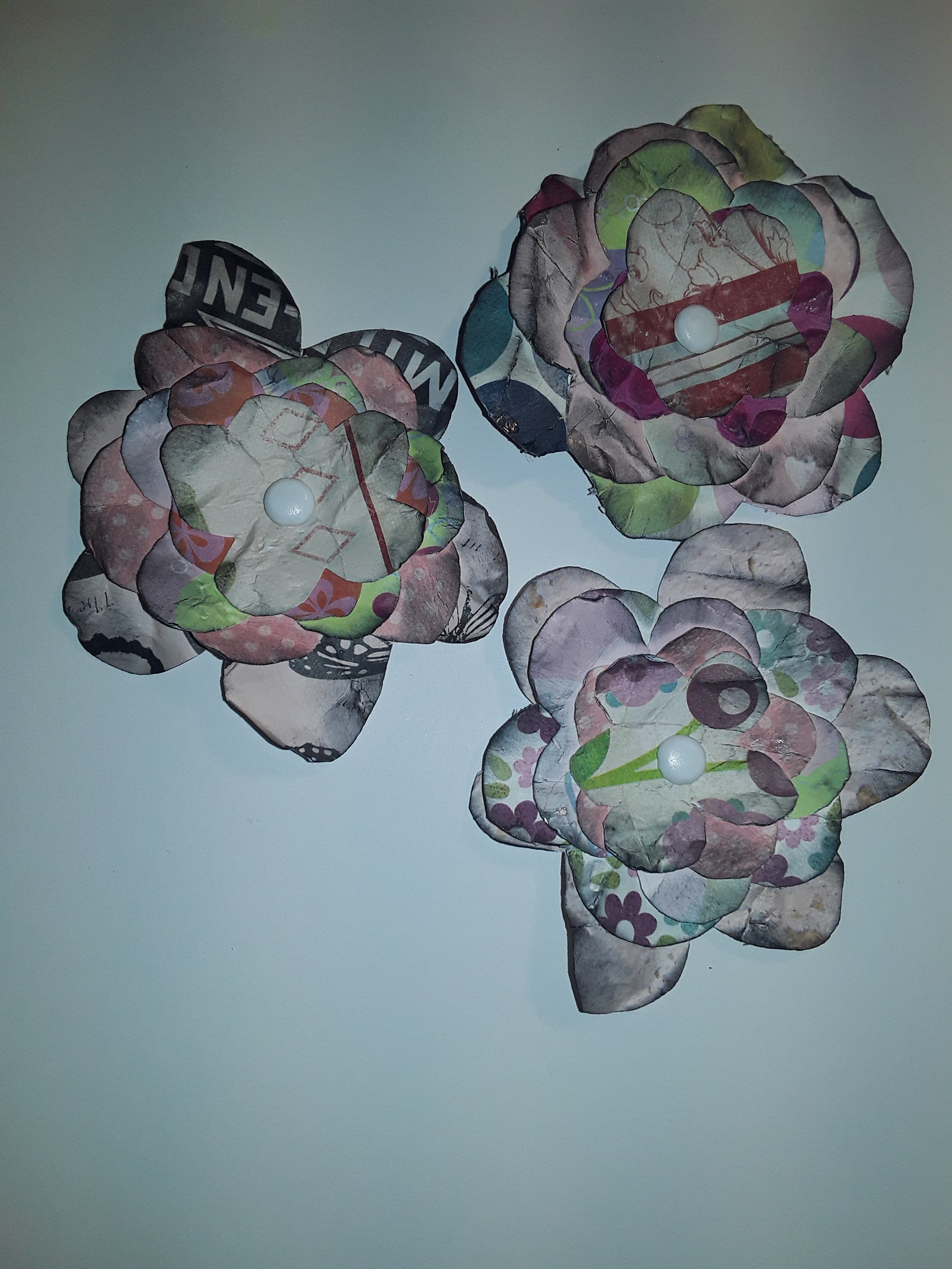 Hand-Cut Paper Flowers in Pink