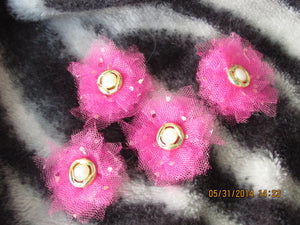 Pink Confetti Tulle Flowers
