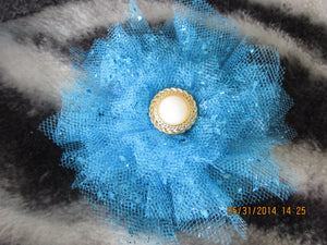 Large Teal Tulle Flower