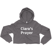 Load image into Gallery viewer, Ciara's Prayer Cropped Hoodie Sweatshirt