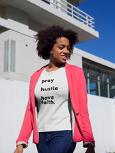 Load image into Gallery viewer, pray hustle have faith tshirt