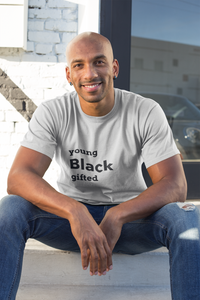 Young Black Gifted Men's Athletic Fit T-Shirt