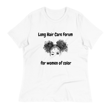 Load image into Gallery viewer, Long Hair Care Forum T-shirt - (White)