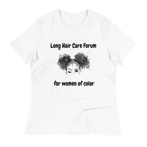 Long Hair Care Forum T-shirt - (White)