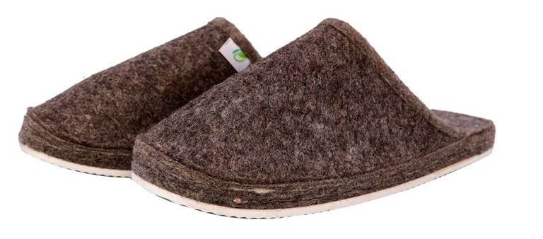 Flip Flop / Home Slipper / Mules  with Rubber Sole -  100% Organic wool