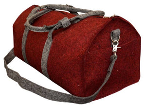 Duffel Bag for Travel / Gym / Active Sports - 100% Organic Wool