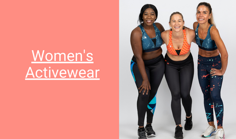 Fondo collection of activewear for women including leggings, singlets, sports bras, muscle tanks