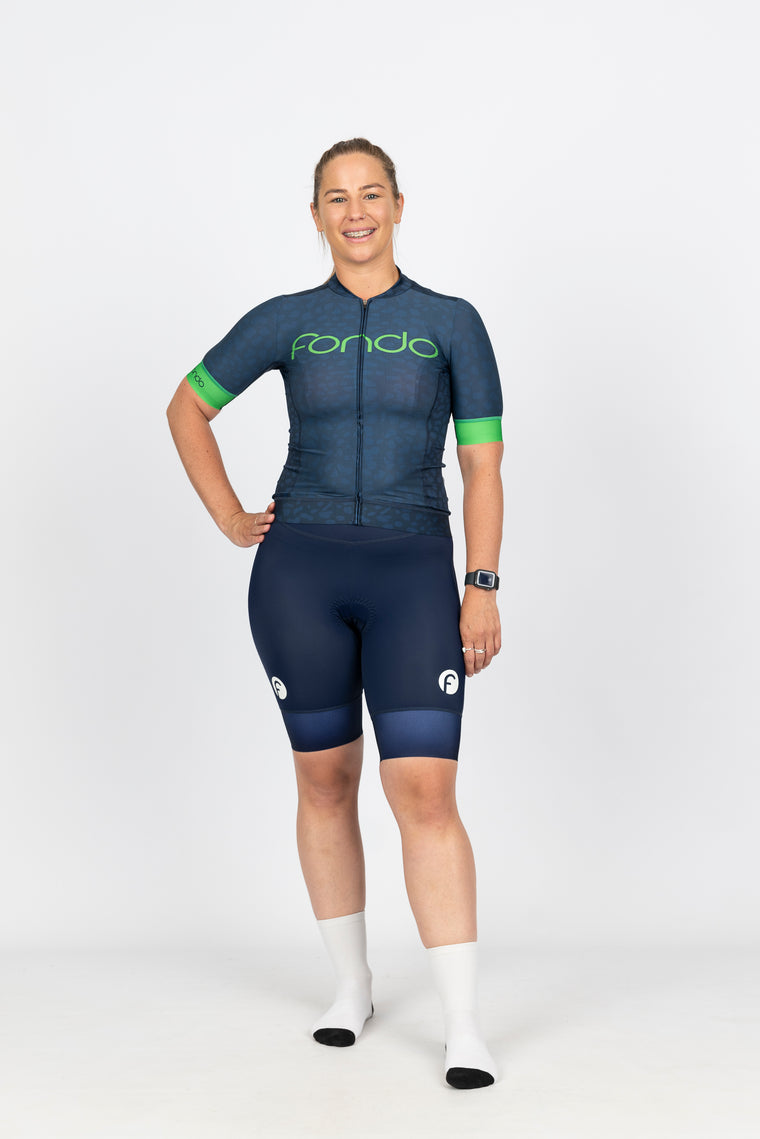 Women's Short Sleeve Cycling Jersey l Moonlight