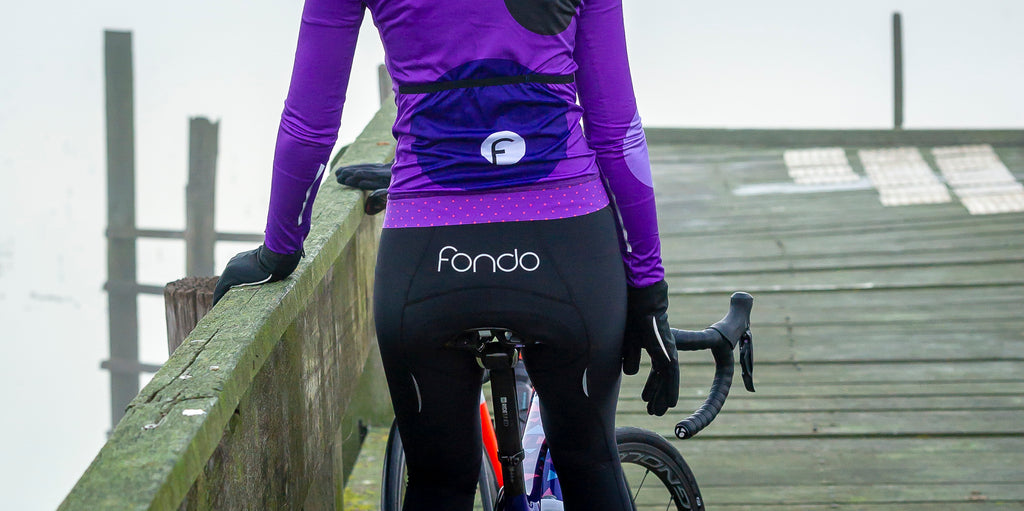 NEW Long fleece bib tights with chamois