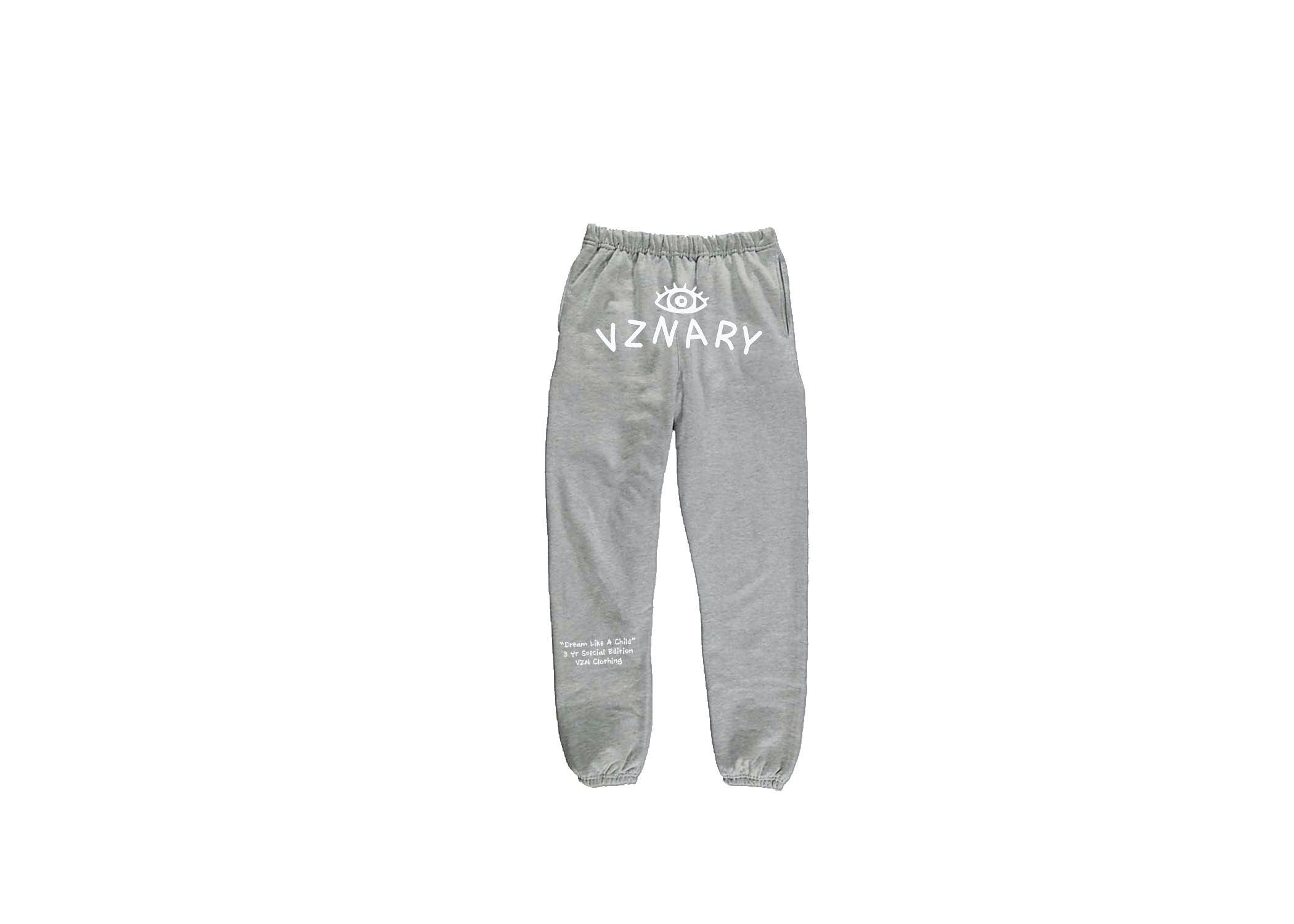 Gray VZNARY Logo Sweatpants