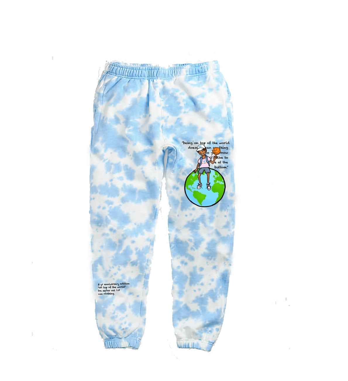 Tre Series 1.5: Blue Tie Dye Sweatpants