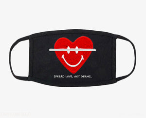 """Spread Love, Not Germs"" Heart Mask"