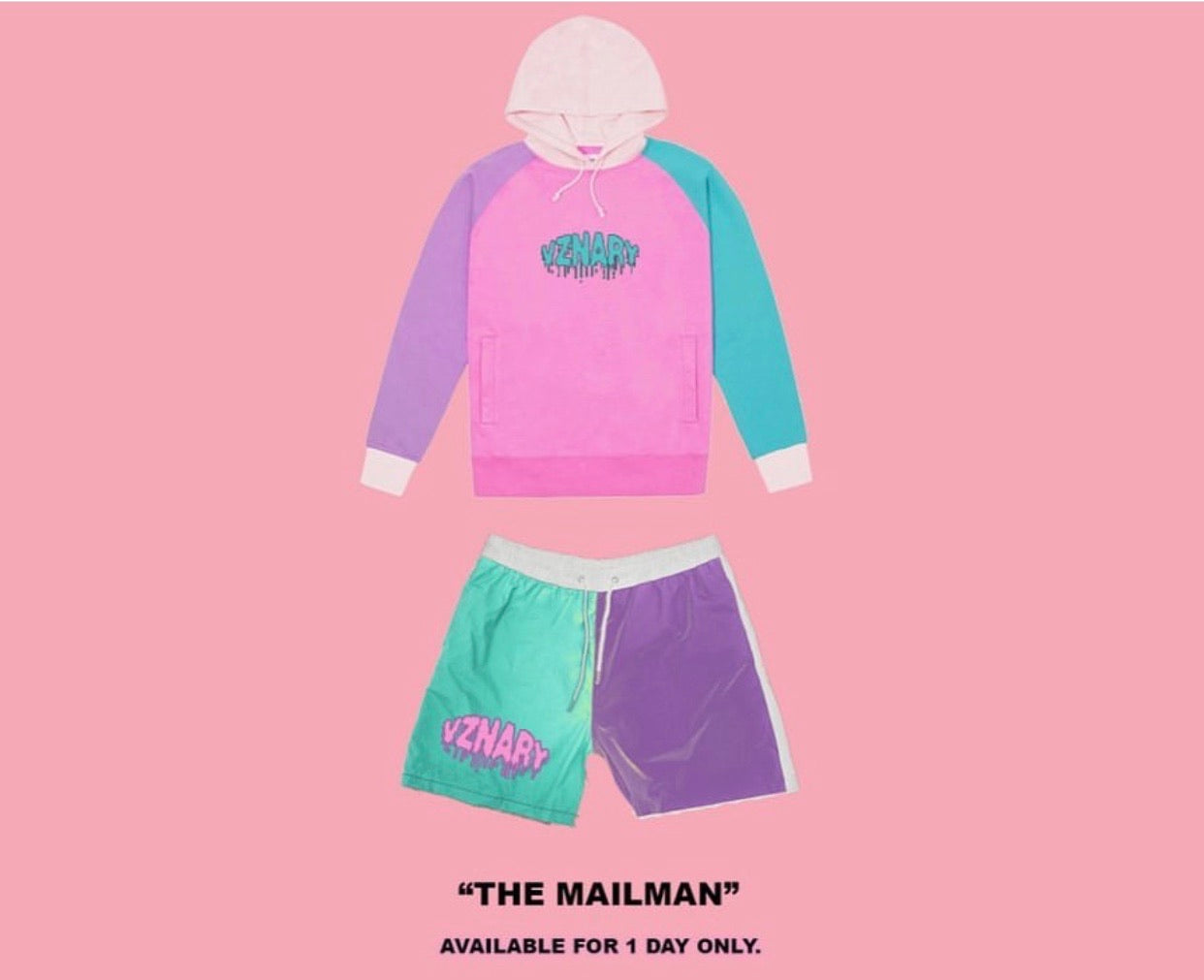 """Mailman"" Colorblock Shorts"