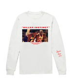"Load image into Gallery viewer, Mamba Day ""Killer Instinct"" White Longsleeve"