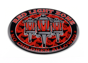 RED LIGHT ZONE - 3D DELUXE FULL PRINT STICKER