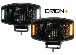 Orion + Ledson LED koplamp 100W - ORANJE / WIT positielicht