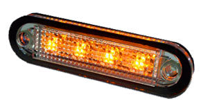 ORANGE - C2-98 LED SEITENMAREKRUNGLEUCHT 12-24V