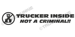 TRUCKER INSIDE - STICKER