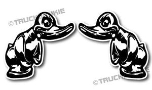 TURBO DUCK - FULL PRINT - STICKER ZWART