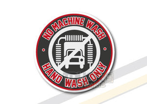 HAND WASH ONLY - FULL PRINT - STICKER