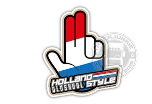 XXL - HOLLAND OLDSKOOL STYLE - HOPPA - FULL PRINT STICKER