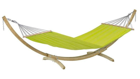 Lime green hammock with wooden stand from Simply Hammocks