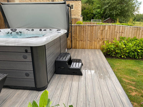 A hot tub on Composite Decking