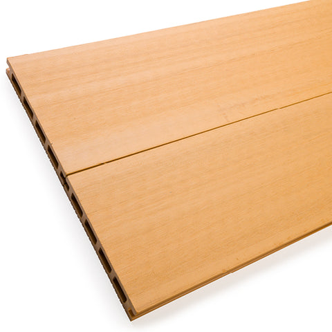 Reverse side of teak standard composite decking boards