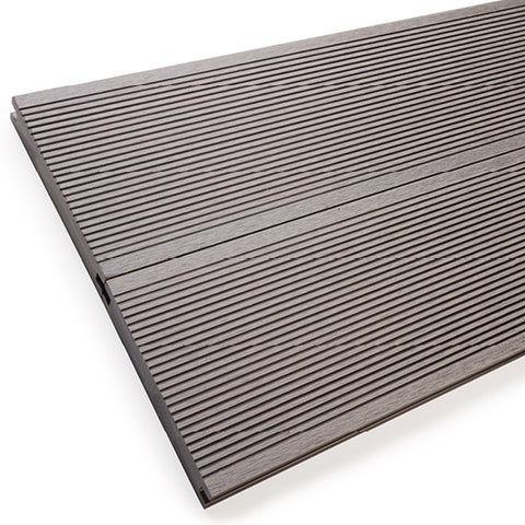 Solid composite decking is stronger - ideal for steps and walkways