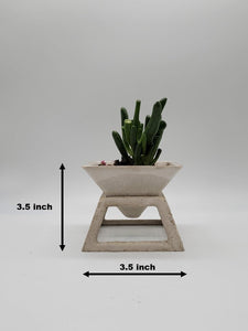 3.5 inch pyramid cement planter stand with cement planter stand, Concrete planter
