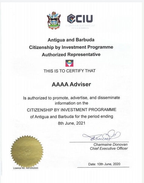 Citizenship Antigua and Barbuda - License okkar